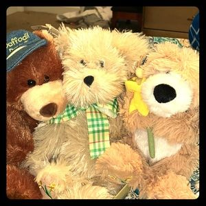 Set of 3 Boyd's Daffodil collection Plush Bears